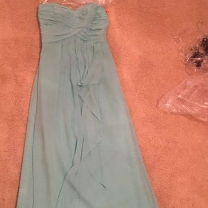 Davids bridal blue dress